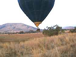 Balloon safari -  just above us in Pilanesberg; Sep 12 2003